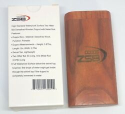 Wooden Dugout with Two Bat Hitter and One Metal Rod High Standard By ZSB Goods $11.99
