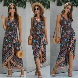Floral Party Women Dresses Loose women#x27;s Long Sleeve Womens Long Casual V Neck $21.24
