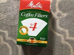 COFFEE MAKER FILTERS WHITE #4 Cone Style 8 10 12cUp CoffeeMaker MELITTA 624107 $9.99