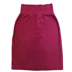 American Apparel Red Pencil Skirt High Waisted 100% Cotton Size XS $19.99