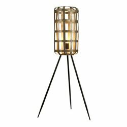 55quot; Metal Cage Tripod Floor Lamp LED Bulb Compatible $69.00