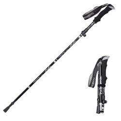 Retractable Anti Shock Walking Sticks Telescopic Trekking Hiking Poles Canes M $22.55