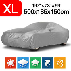 XL Silver Full Car Cover Rain Dust Protection Outdoor For Ford Mustang GT Coupe