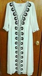 White Long Dress Sheer Sage amp; Vicky Loose Fitting Fancy Dress Size M $20.88