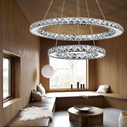 Crystal Modern Galaxy Chandelier LED Light Circle Pendant Ceiling Lamp Lighting $44.15