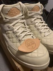 Air Jordan 2 Retro Just Don Beach Size 10.5 VNDS Great Condition Offwhite $390.00