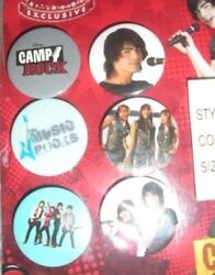 6 Camp Rock Collector Pins Disney Exclusive from the Disney Store Buttons $2.95