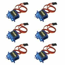 6PCS SG90 Mini Analog Gear Micro Servo 9g For RC Airplane Helicopter RC Parts $17.99