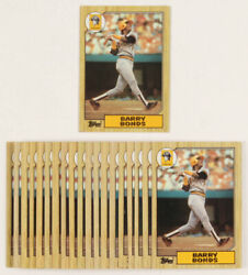 1987 Topps #320 Barry Bonds Rookie RC EX EXMINT Pittsburgh Pirates FREE SHIPPING $9.50