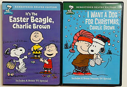 PEANUTS I WANT A DOG FOR CHRISTMAS CHARLIE BROWN amp; IT#x27;S THE EASTER BEAGLE DVD#x27;S $9.99