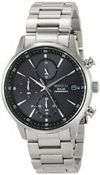 Wired WIRED Watch Solar Charging Chronograph mens for male AGAD408 No.1188 $280.66
