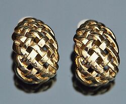 GIVENCHY Vintage Clip Earrings Gold Plated $55.00
