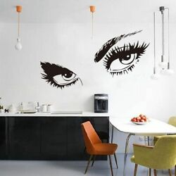 Eye Wall Sticker DIY Art Decal Eyelashes Wall Sticker Home Decoration 19quot;x22quot; US $7.59