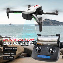 SG906 GPS Brushless 4K Drone Camera 5G Wifi FPV Quadcopter Xmas 3 Battery P3J6 $165.05