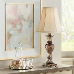 Traditional Table Lamp Warm Bronze Urn Footed Base for Living Room Bedroom $29.95