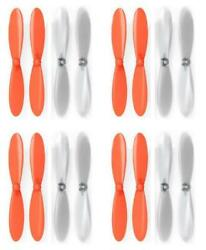 Ares Spectre X Orange Clear Propeller Blades Props Propellers 4 Pack $5.95