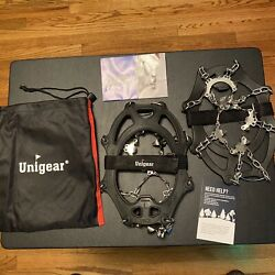 Unigear Traction Cleats..Ice Snow Grips..New..18 Spikes $25.00