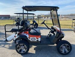 🔥EZGO 13.5 HP Gas Harley Davidson themed lifted 4 passenger golf cart SSCARTS🔥 $6985.00