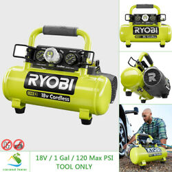 RYOBI 18V Air Compressor Portable Cordless 120 Max PSI Oil Free Quiet Tool ONLY $117.99