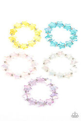 NEW Paparazzi Jewelry Bracelet Set of 5 Starlet Shimmer Star Assorted Colors $5.00