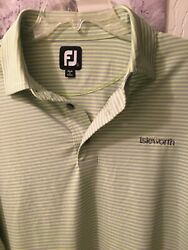 FOOTJOY MENS LARGE GOLF SHIRT EXCELLENT USED CONDITION FJ LOGO ISLEWORTH L@@K $15.00