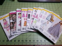 Simplicity Pattern Girls Dress Dresses Tops Pants Ponchos Jackets Dolls UNCUT $7.25
