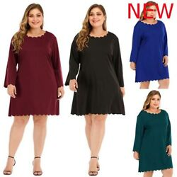 Cocktail Plus Size Oversized Evening Party Dress Dresses Casual Long Sleeve Maxi $20.43