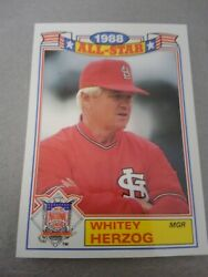 WHITEY HERZOG 1989 TOPPS 1988 ALL STAR GAME #12 OF 22 FREE SHIPPING $0.99