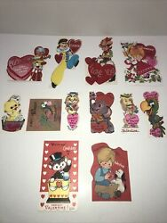 Vintage Valentine Cards Lot Of 12 ALL UNUSED 1950's 1960's Free Shipping Lot5 $14.99
