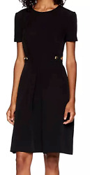 NWT $288 TRINA TURK Women Perla Classic Cocktail Black Dress Buttons Size 6 8 $59.99