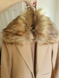 Beige Coat Small with Faux Fur Collar $25.00