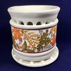 Vintage Avon Natural Home Fragrancer Potpourri or Wax Burner Warmer w Candle NEW $19.95