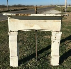 Antique Wood Fireplace Mantel Suround Architectural Salvage Victorian Rustic A41 $450.00