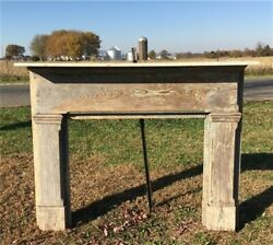 Antique Wood Fireplace Mantel Surround Architectural Salvage Victorian Rustic A7 $450.00