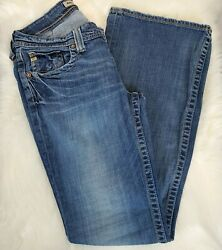 Big Star Womens Maddie Mid Rise Fit Boot Cut Stitched Medium Wash Jeans Size 29L $27.95