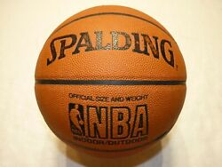Spalding Official Size amp; Weight NBA Indoor Outdoor Synthetic Leather Basketball $17.95