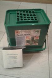 Small Kitchen Compost Collector 1.2 gal. plus a pack of 3 extra filters C $9.00
