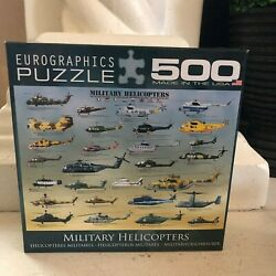 NEW Eurographics 500 MILITARY HELICOPTERS Jig Saw Puzzle Made in U.S.A. Airforce $24.97