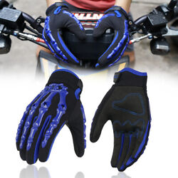 Skeleton Bone Gloves Motorcycle Riding Touch Screen Tactical Full Finger Gloves $15.99