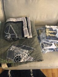 Pottery Barn Kids Star Wars Sheets FULL Size With Quilt And Sham. Clean Home $150.00