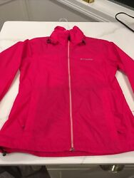 Columbia Windbreaker Pink Size Small With Hood $12.99