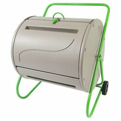 Green Culture 37 Gal. Compost Tumbler Gray Rugged weather resistant metal plasti $178.08