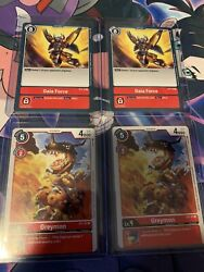 Digimon TCG 2020 ST1 2x Gaia Force 2x Greymon NM $50.00