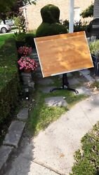 Drafting Vintage Table Iron Wood Antique Home Decor Art Easel 3 Legs $475.00