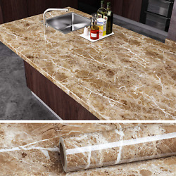 Brown Marble Contact Paper Peel and Stick Countertop Granite Wallpaper $16.09