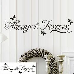 Always amp; Forever Bedroom Wall Sticker For Home Decoration Wall Decal black $3.99