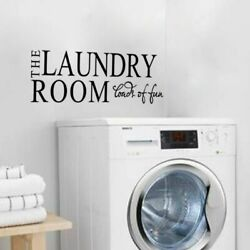 The Laundry Room Wall Door Sticker For Home Decoration Wall Decal black $3.99