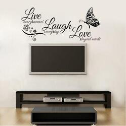 Live Laugh Love beyond words Wall Sticker Decoration Wall Decal black $3.99
