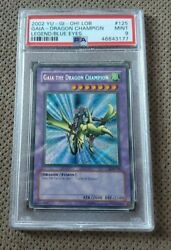 Gaia The Dragon Champion Secret Rare 2002 Yu Gi Oh Card LOB 125 PSA 9 MINT $134.99