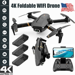Drone X Pro WIFI FPV 4K HD Camera 3 Battery Foldable Selfie RC Quadcopter Drone $46.99